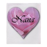 Nana Pink Rose Throw Blanket