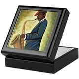Sax Man Keepsake Box