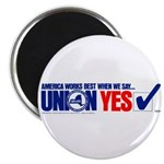 """Union Yes 2.25"""" Magnet (100 pack)"""
