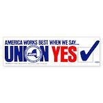 Union Yes Sticker (Bumper 10 pk)