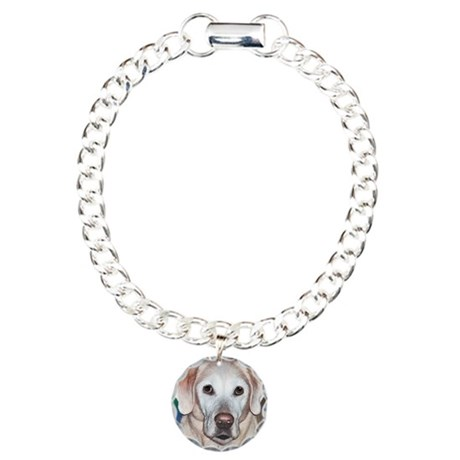 Yellow Lab Charm Bracelet, One Charm