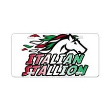 Italian Stallion Aluminum License Plate