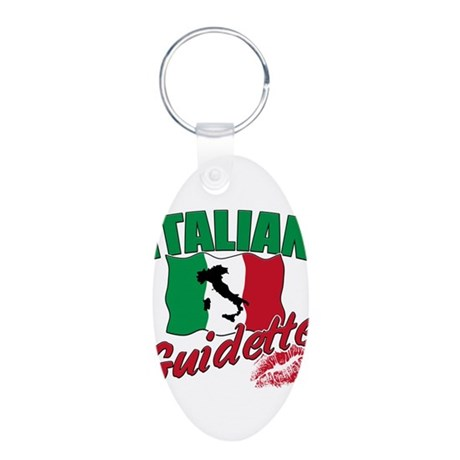 italian pride Aluminum Oval Keychain