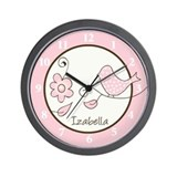 Blossom Trendy Bird Wall Clock - Izabella