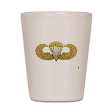 Gold Airborne Wings Shot Glass