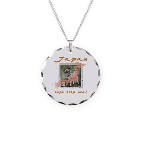 JAPAN RELIEF FOR THE LOST ANIMALS Necklace Circle