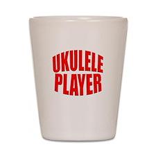 ukulele player Shot Glass