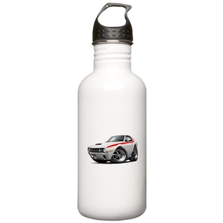 1970 AMX White-Red Car Stainless Water Bottle 1.0L