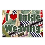 I Love Inkle Weaving Postcards (Package of 8)