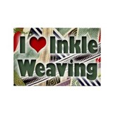 I Love Inkle Weaving Rectangle Magnet