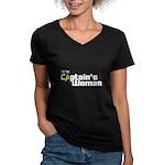 The Captain's Woman Women's V-Neck Dark T-Shirt