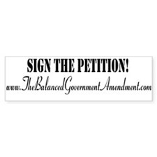 Balanced Government Bumper Sticker
