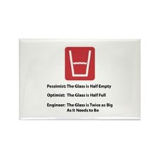 Glass Too Big Rectangle Magnet (100 pack)
