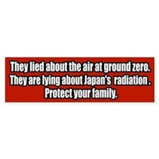 Nuclear Japan Fukusima Radiation Bumper Bumper Sticker