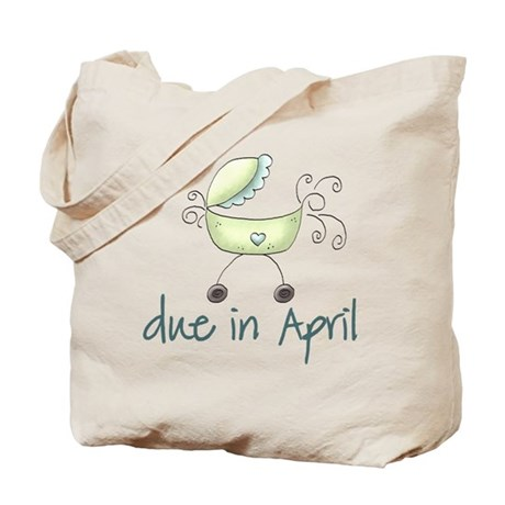 Green April Baby Buggy Tote Bag