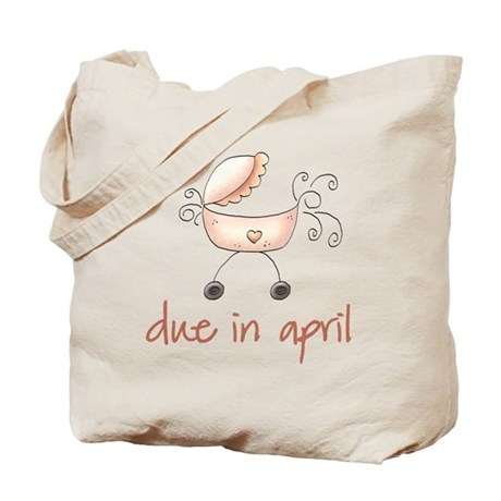 April Pink Baby Buggy Tote Bag