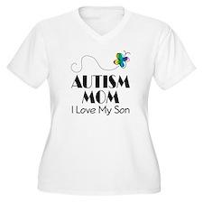 Autism Mom I Love My Son T-Shirt