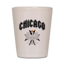Chicago Polish Eagle Black Cr Shot Glass