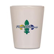 New Orleans Fleur de lis Shot Glass