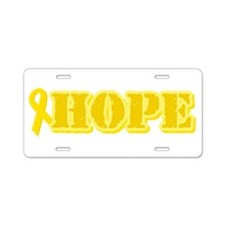 Hope Yellow ribbon Aluminum License Plate