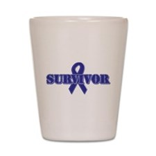 Purple Ribbon Survivor Shot Glass