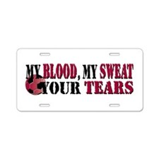 Blood Sweat Soccer Aluminum License Plate