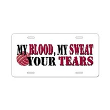 Blood Sweat Tears Aluminum License Plate