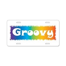 Groovy cl block Aluminum License Plate