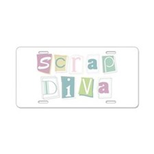Scrap Diva Aluminum License Plate