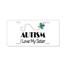 Autism I Love My Sister License Plate