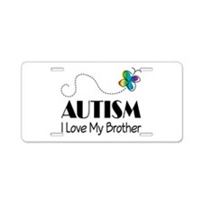 Autism I Love My Brother License Plate