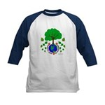 Earth Day Everyday Kids Baseball Jersey