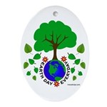Earth Day Everyday Ornament (Oval)