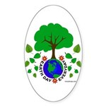 Earth Day Everyday Sticker (Oval 10 pk)