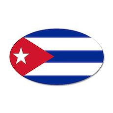 Cuban Flag 22x14 Oval Wall Peel