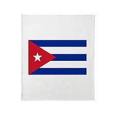 Cuban Flag Throw Blanket