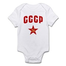 Hammer and Sickle CCCP Star Infant Creeper
