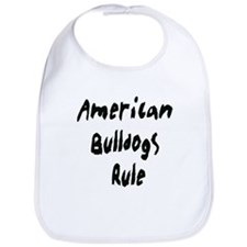 Unique I love bulldogs Bib