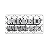 Mixed Martial Arts Aluminum License Plate