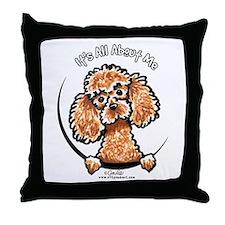 Apricot Poodle IAAM Throw Pillow