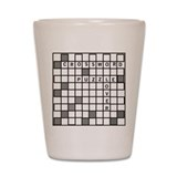 Cute Crossword Shot Glass