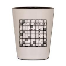 Unique Crossword Shot Glass