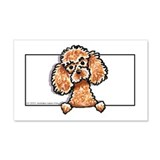 Apricot Poodle Head n Paws 22x14 Wall Peel