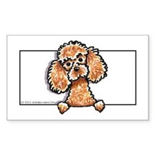 Apricot Poodle Head n Paws Decal