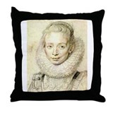 Chambermaid Sketch Throw Pillow