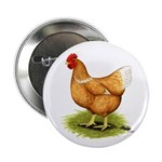 Golden Sex-link Hen Button
