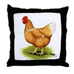 Golden Sex-link Hen Throw Pillow