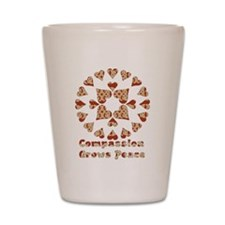 Compassion Grows Peace Shot Glass