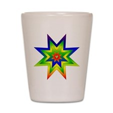 Rainbow Star Shot Glass