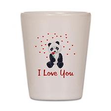 Panda Bear Love Shot Glass